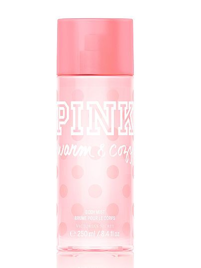 Victoria's Secret PINK Warm & Cozy Body Mist. The name is exactly how this smells! I have this in the body mist and lotion, and they both smell amazing! Perfect for feeling cozy and happy throughout the day. Definitely worth looking into if you're searching for a new fragrance.
