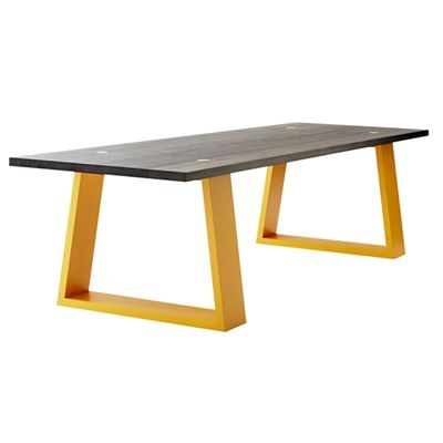 MARK TUCKEY locator dark dining table. american ash top with stained finish in either a light lime or washed black. new so very new - the legs pop through the top at 4 points to give dots of whatever leg colour you choose. this table is oh so very affordable, go on.......you know you want one.