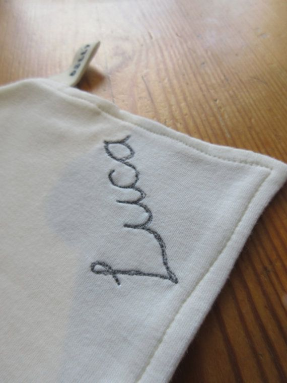 Handmade personalised dribble bib 100% cotton by DollyOliveShop