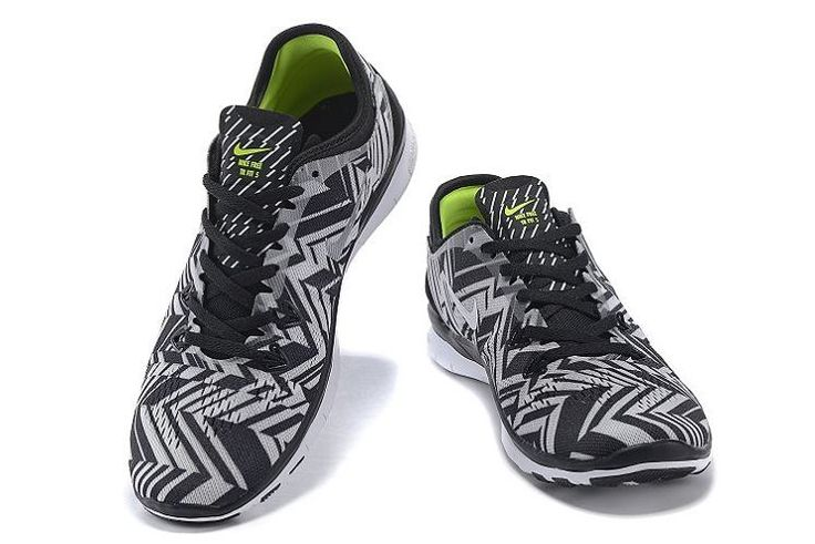 Nike Free 5.0 Women's black white gray Running shoes