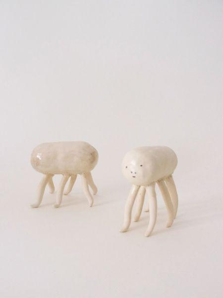 http://mijulee.net/ceramic/abuelos/ contemporary abstract figurative ceramic art sculptures