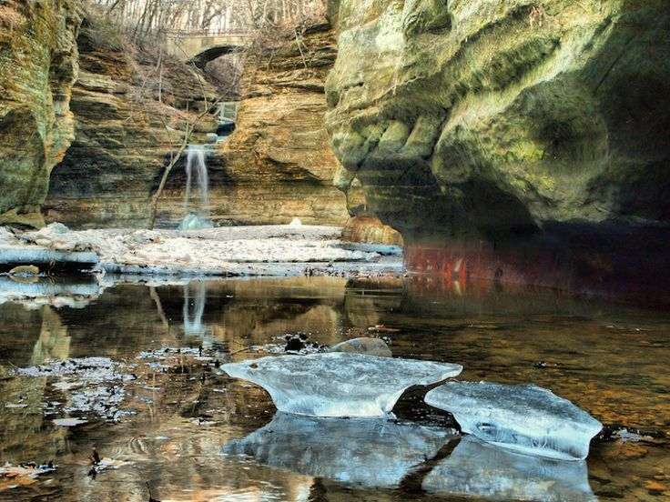 One amazing view of the Cascade Falls in the great state of ILLINOIS... Camping road trip or RVing with the family? Don't forget to take a peek at the top Campgrounds and RV Parks in the area...