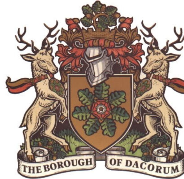 The crest of Dacorum borough.