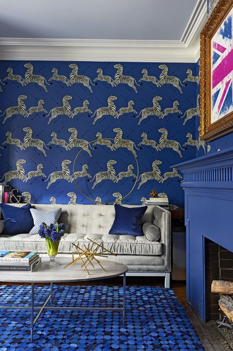 8 ideas for bold and fearless interiors. 17 Best images about Blue Interiors on Pinterest   Blue wallpapers