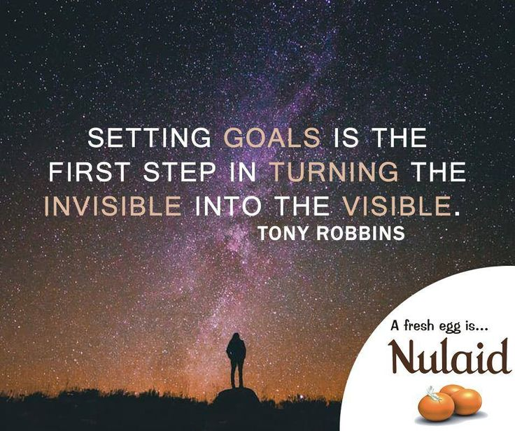 Setting goals is the first step in turning the invisible into the visible. Tony Robbins #motivationals #Nulaid