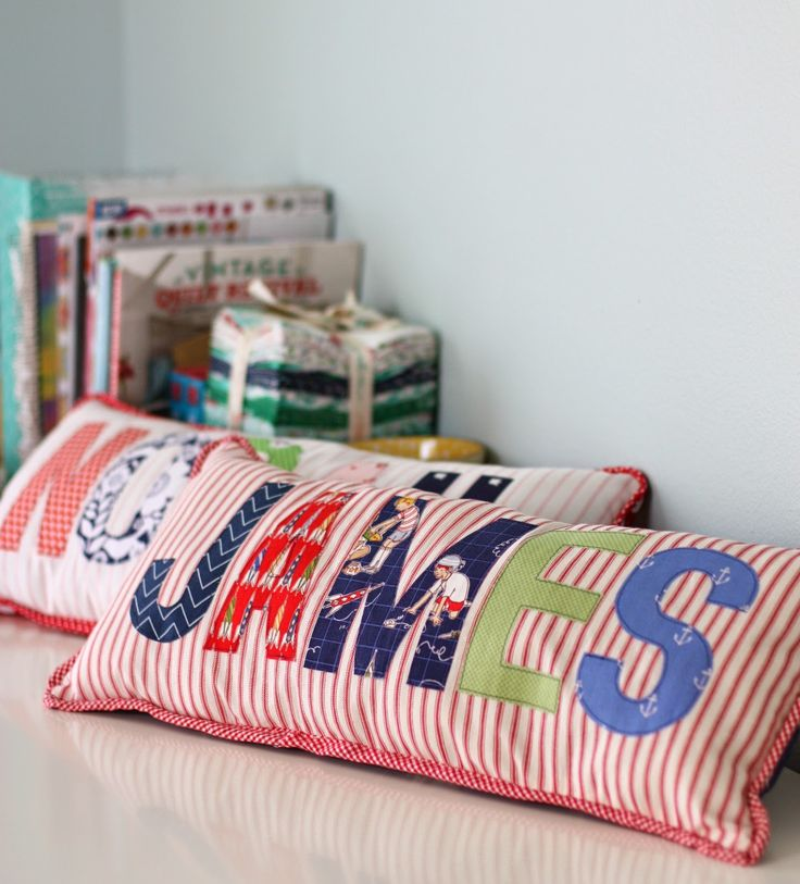 Applique Name Pillows - Diary of a Quilter