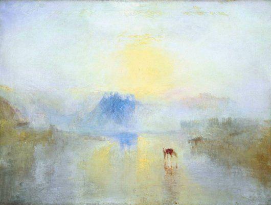 J.M.W. Turner: Norham Castle, Sunrise - 1845