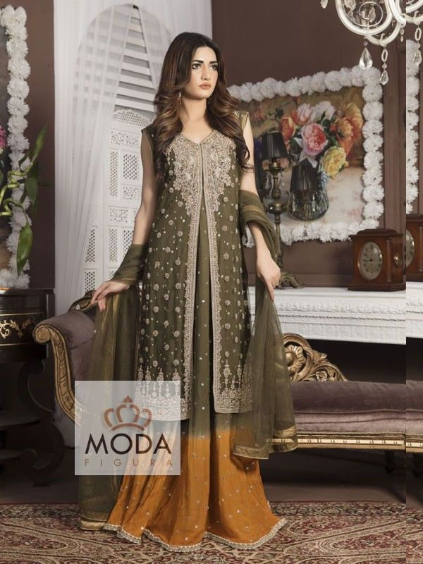 Affordable custom made lacha lehenga, long kameez sharara @modafigura.com