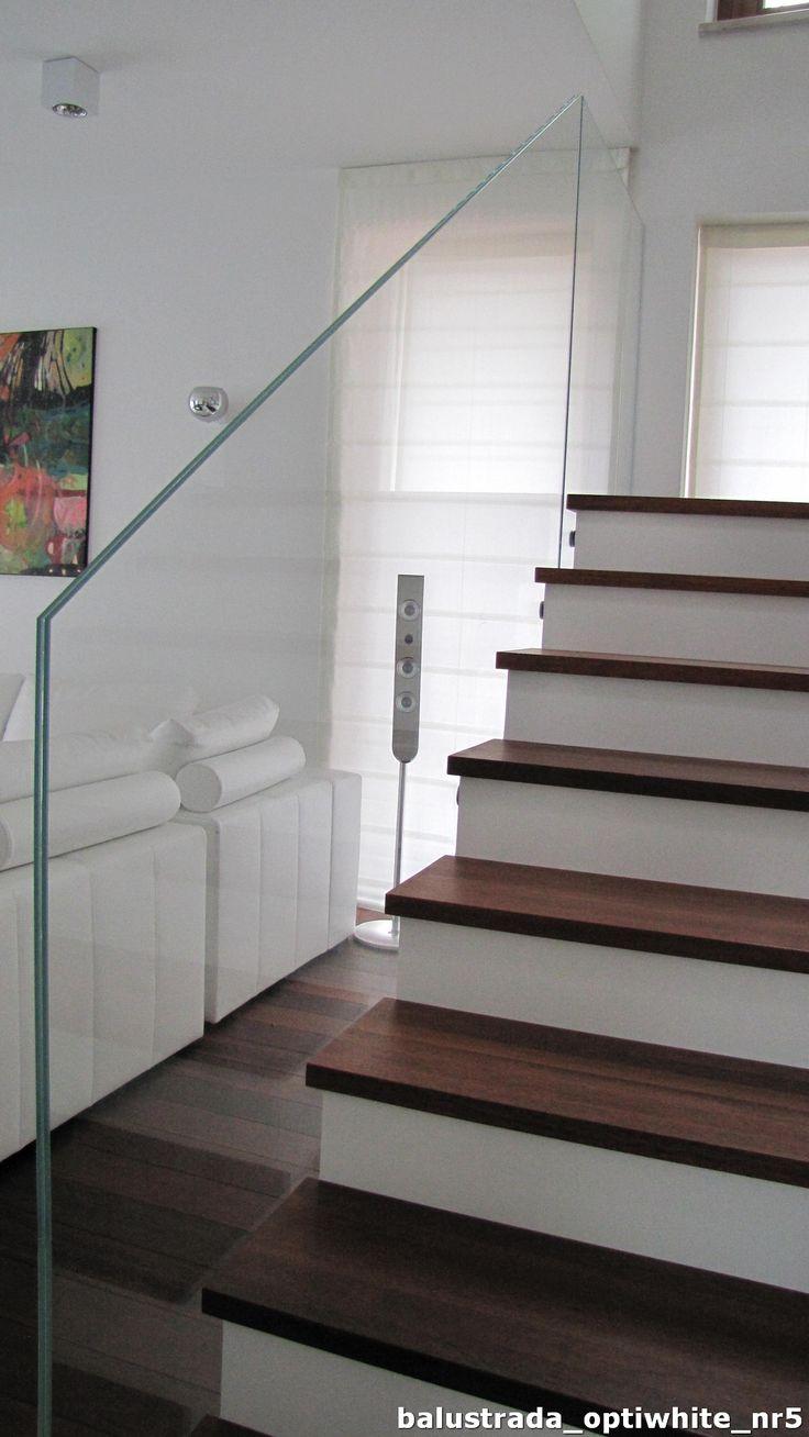 Glass balustrade , safe glass with lamination. Balustrada szklana ze szkła bezpiecznego laminowanego i hartowanego