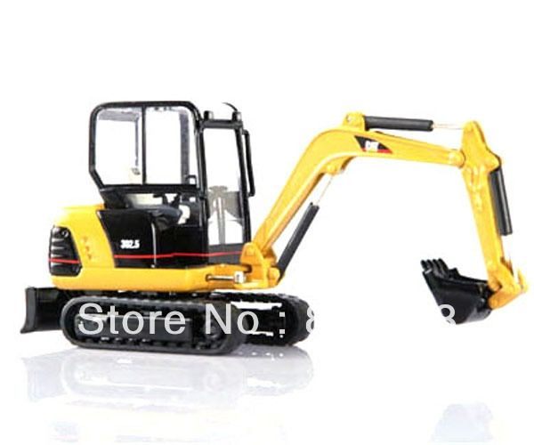 56.31$  Buy now - http://alig2b.worldwells.pw/go.php?t=1646825470 - 1:32 scale DieCast caterpillar cat 302.5 MINI HYDRAULIC EXCAVATOR Construction vehicles toy 56.31$