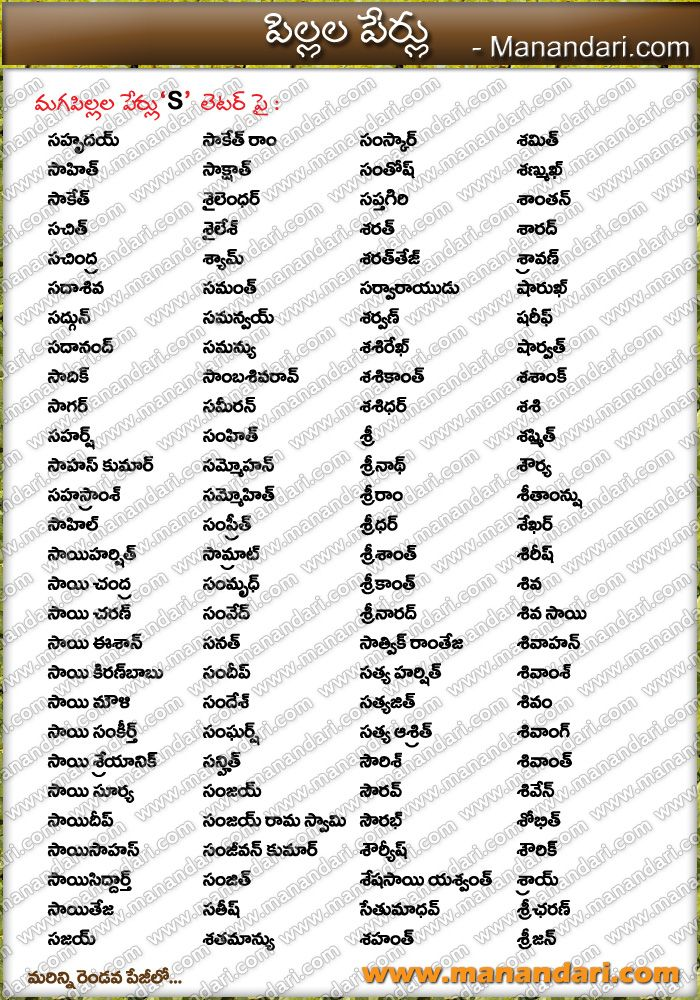 Hindu Baby Boy Names Starting With H In Telugu : hindu, names, starting, telugu, Hindu, Names,, Letter, Telugu, Names