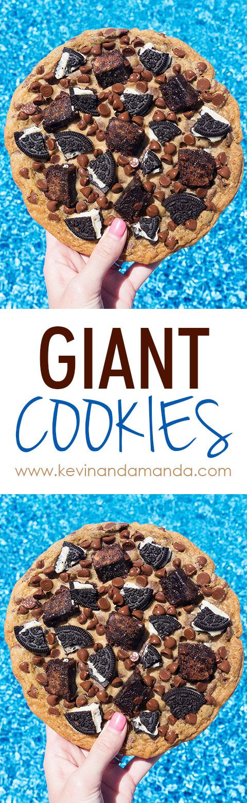 How to make GIANT COOKIES the size of your head!! So fun!!