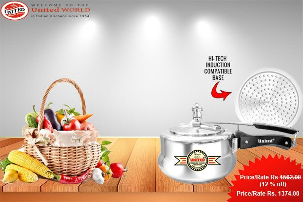 The #Unitedcooker_Magic_Silver_Induction_Pressure_Cooker is one such attribute in the world of modern pressure cooker models that has really added great ease to the kitchen activities.