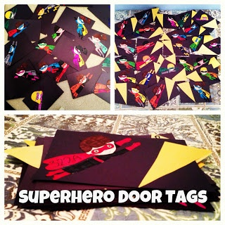 Superhero Door Tags RA Resident Advisor Assistant Decs