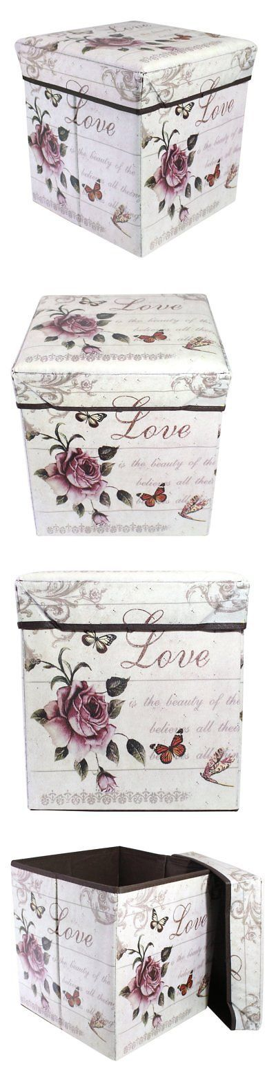 Boxes Jars and Tins 36017: Justnile Decorative Ornamental Storage Box Case With Lid- Roses -> BUY IT NOW ONLY: $31.69 on eBay!