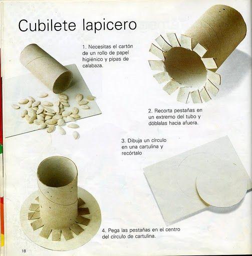 Portalapices con tubos de papel higienico ~ Solountip.com