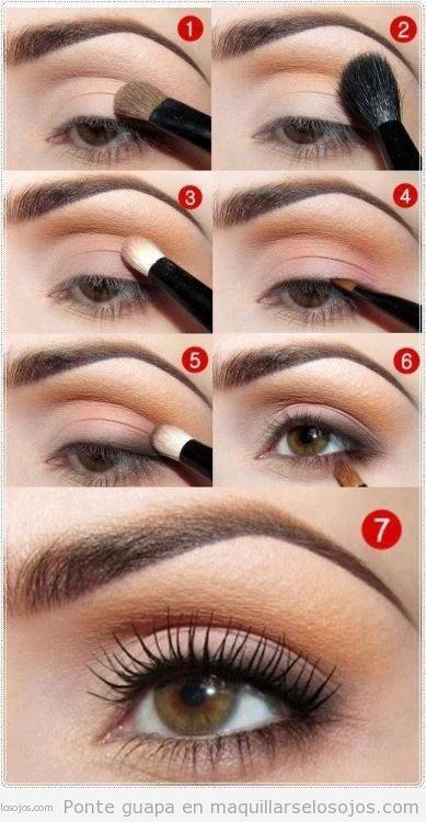 Tutorial con fotos para aprender como maquillarse los ojos paso a paso de forma natural