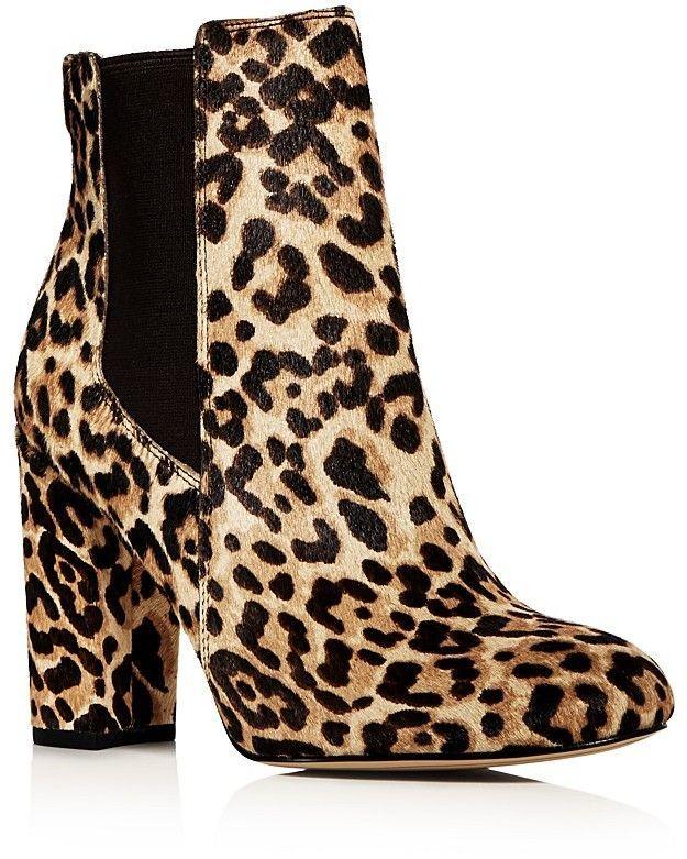 2b9852971 Sam Edelman Women s Case Leopard Print Calf Hair High Heel Booties ...