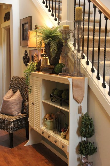 Perfect vignette for the area between the front door and the formal dining room.