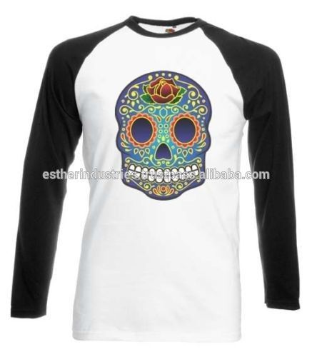 MEXICAN ROSE SKULL BASEBALL T-SHIRT DAY OF THE DEAD ROSE TATTOO TSHIRT/High quality Sublimation Tee/Baseball style fashion tee #baseball, #tattoo