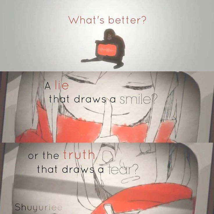the truth that draws a tears is better..  PV: Ayano\'s Theory of Happiness