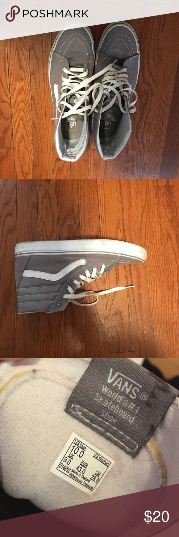 Vans skate high Grey and white skate high vans Vans Shoes Sneakers
