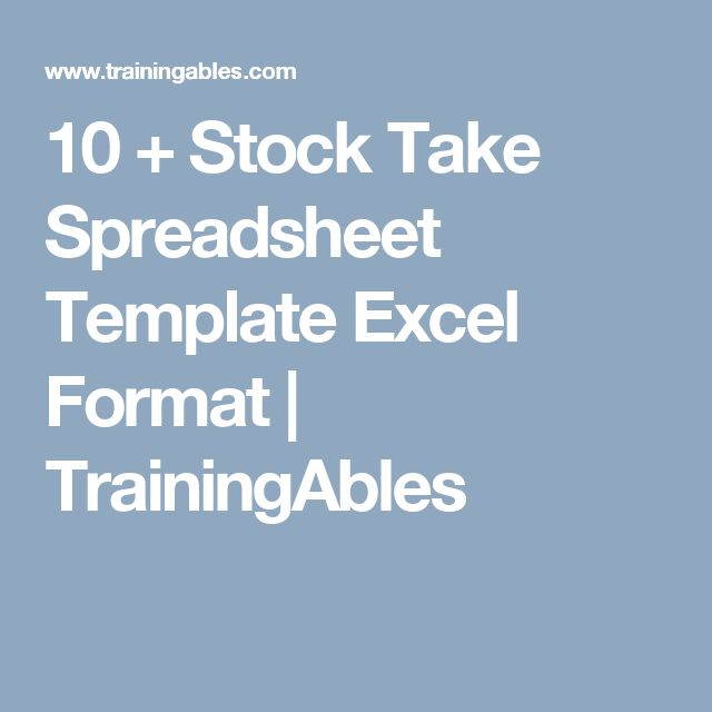 17 best Stock Take Spreadsheet Template Excel images on Pinterest - inventory list sample