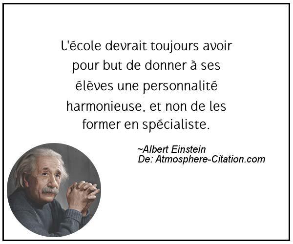 Citation de Albert Einstein - Proverbes Populaires