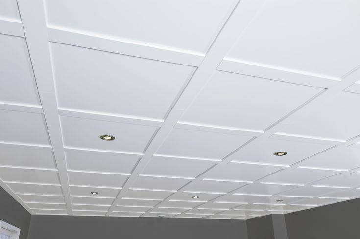 Plafond Embassy blanc. #Plafond. / White Embassy suspended ceiling. #Ceiling.