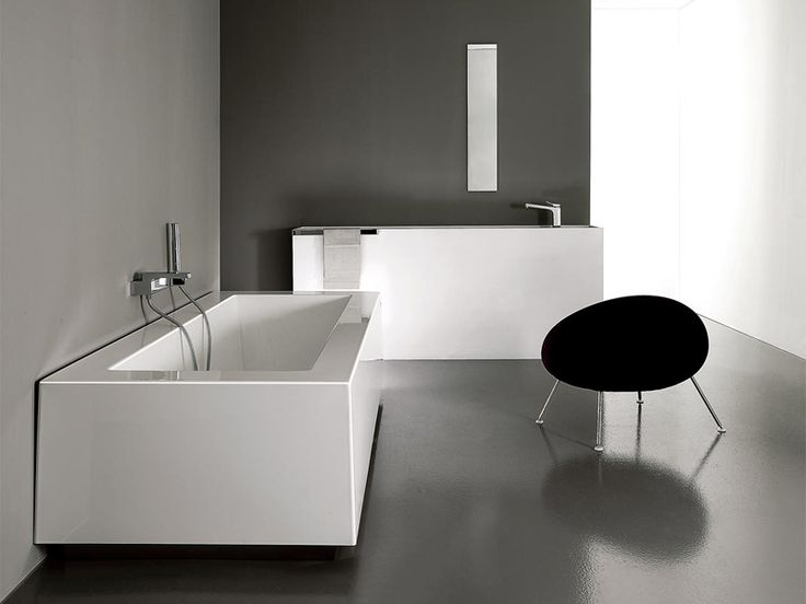 Vasca da bagno rettangolare GRANDE by Kos by Zucchetti design Ludovica+Roberto Palomba