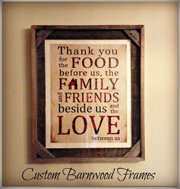 custom barnwood frames thank you framed print 3200 http