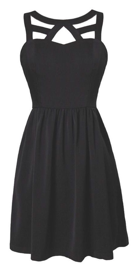 I love this  little black dress!!! A must have for all woman!!!! So stylish with the  cage strap!!!! Chic and edgy!!!