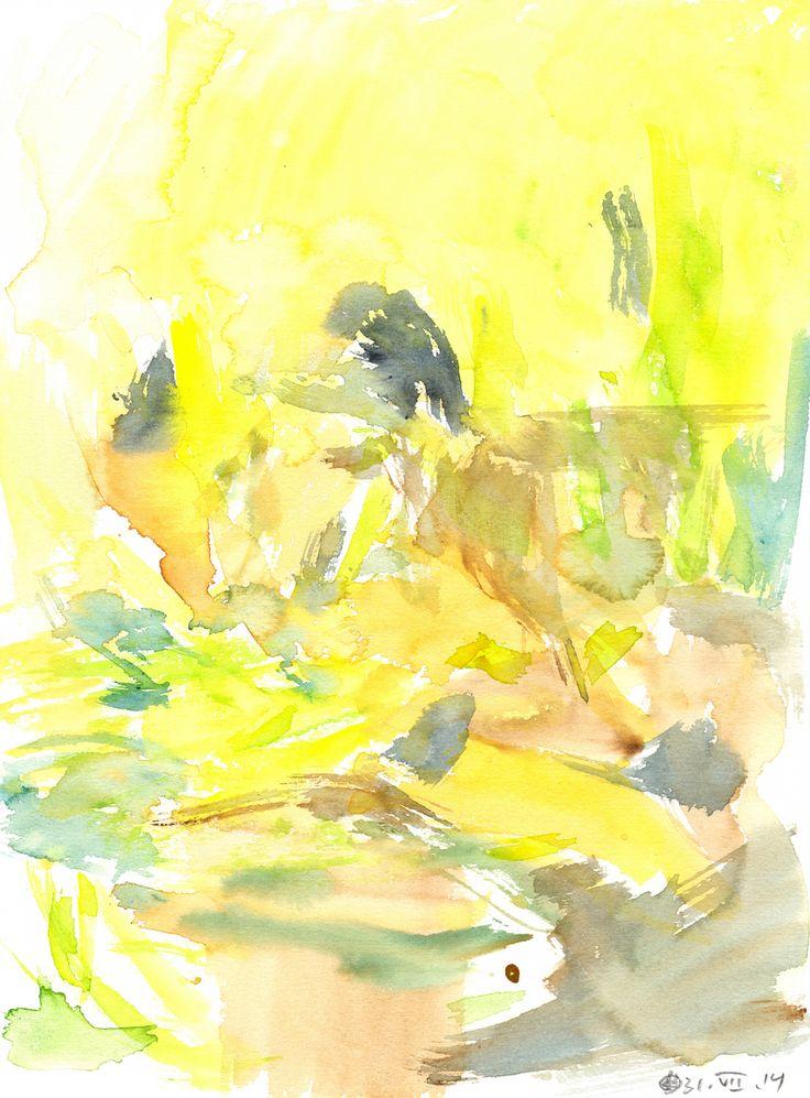 Untitled (Berlin) Watercolour on paper   31x23 cm   2014   OCH-A-14-