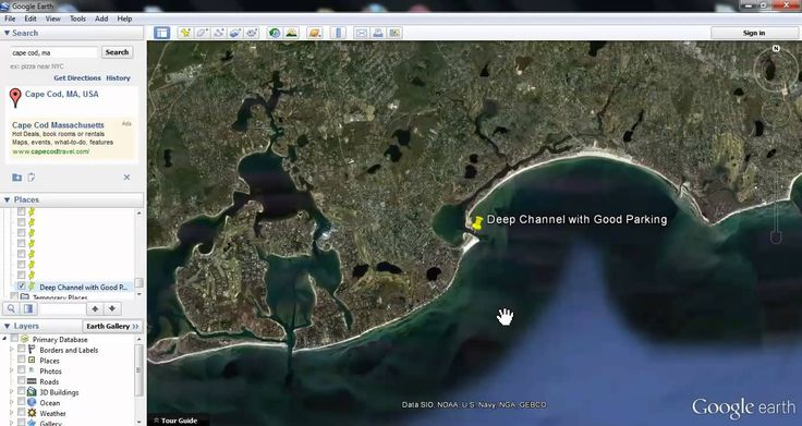 How to Use Google Earth to Locate Fishing Spots - YouTube