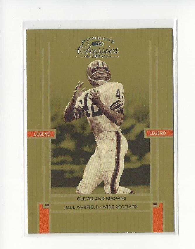 Browns 112 : browns, Donruss, Classics, Warfield, Browns, /1000, #DonrussClassics, #ClevelandBrowns, Cleveland, History,, Browns,, Classic