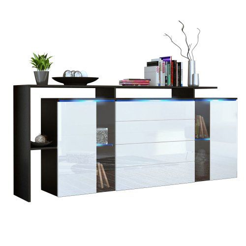 sideboard kommode lissabon v2 in schwarz wei hochglanz wohnideen pinterest. Black Bedroom Furniture Sets. Home Design Ideas