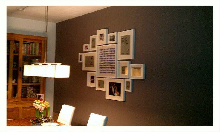 Foto collage wand fotocollage pinterest fotorahmen for Wohnzimmer 4 x 10