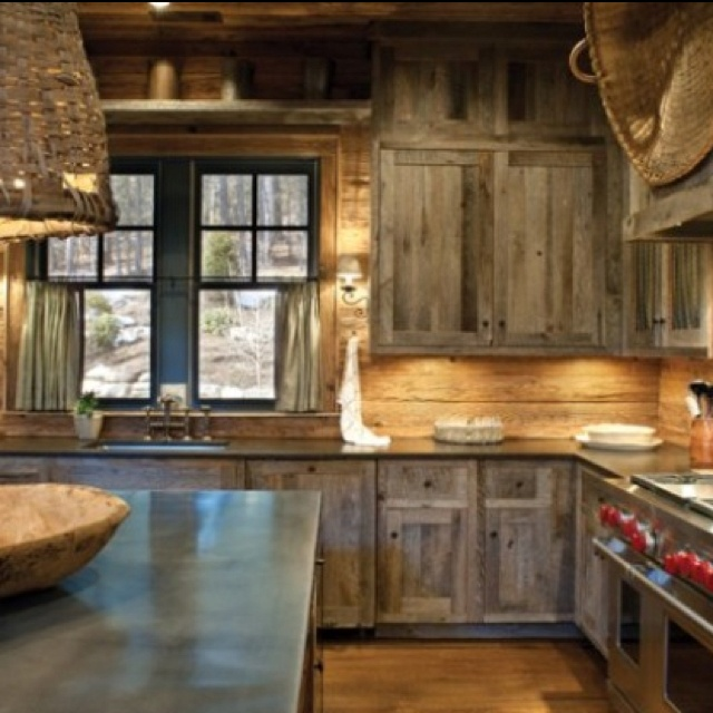 17 best images about barn wood on pinterest rustic for Barn kitchen designs
