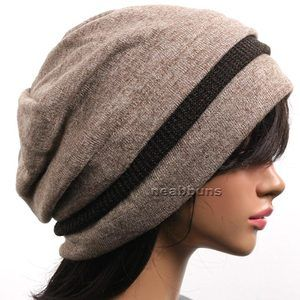 Beige Designer Beanie Triple Layer.