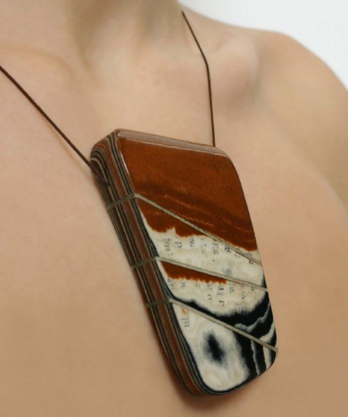 Upcycled book jewelry