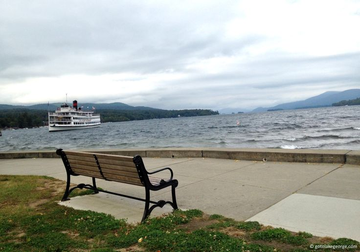 Lake George shores on a quiet day