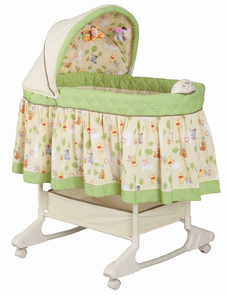 Disney Baby Rocking Bassinet   Happy Day Pooh   Baby   Furniture    Bassinets U0026 Cradles