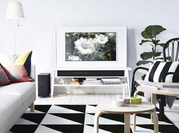 Zwart-wit vloerkleed met grof patroon