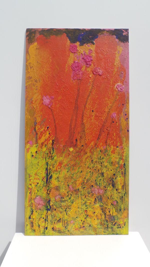 Arenas, pigmentos naturales y resina obre tabla. Autor: Frutos María.