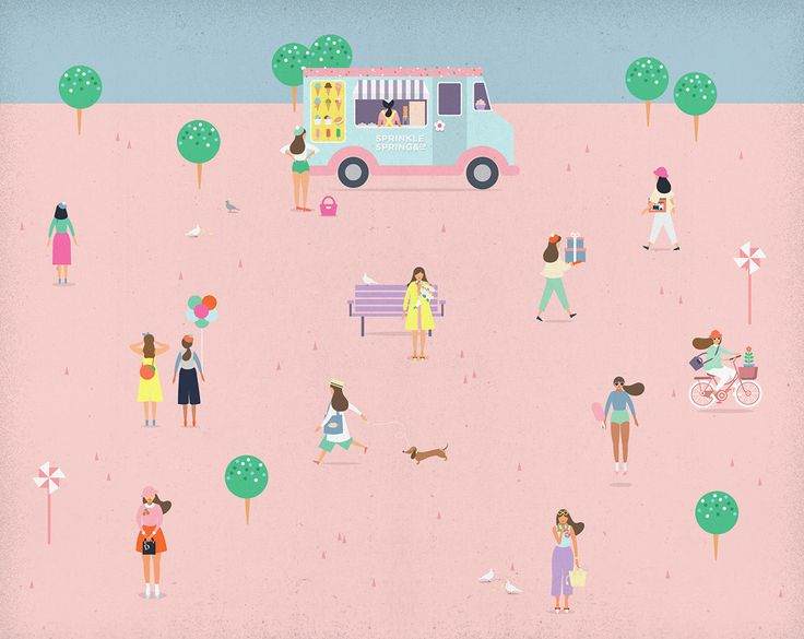 illustration | Sprinkle Spring on @behance, via Putri Febriana