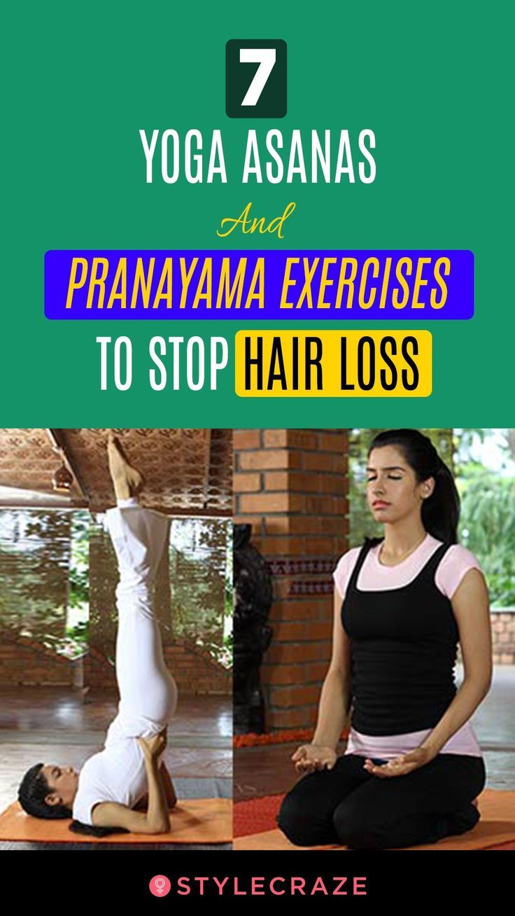 Asanas Exercises Hair Loss Pranayama Stop Yoga 7 Yoga Asanas