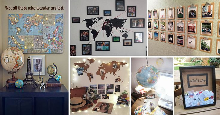 Lovely Diy Travel Inspired Home Decor Ideas To Bring A Feeling Of Wanderlust To Your Home The Art In Life Souvenir Display Travel Inspired Decor Travel Decor Diy