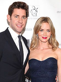 John Krasinski and Emily Blunt Welcome Daughter Hazel | People.com.... I am putting this couple on my crush board because I have a healthy crush on this couple.
