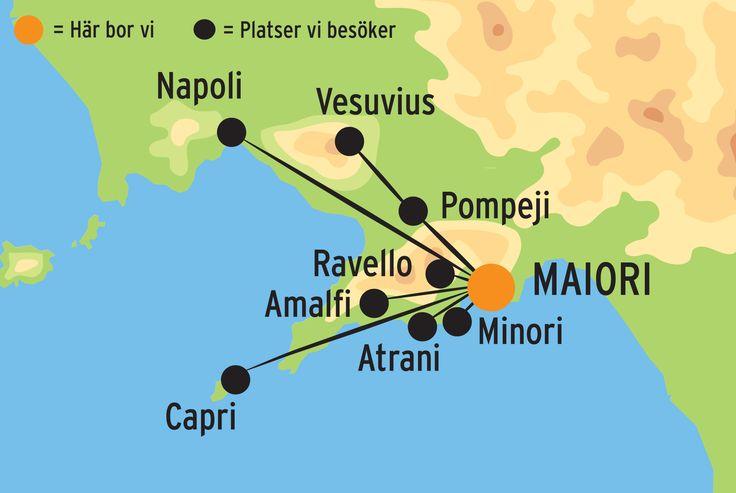 Vidunderliga Amalfi med Kulturresor Europa