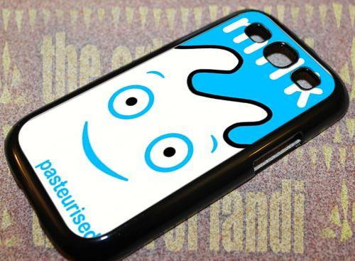 Blur Coffee and TV Milk Carton For Samsung Galaxy S3 Black Rubber Case